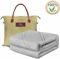 Cooling Weighted Blanket 100% Chilled Bamboo 60''x80'' 15lbs Queen Size Comfort