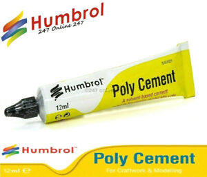 Humbrol Poly Cement Glue AE4021 Solvent Based Cement 12ml Airfix Model Glue Kits