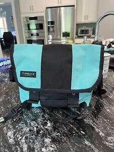 timbuk2 classic messenger bag tote XS teal/black