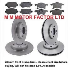 Vauxhall Astra H Mk5 04-09 1.6,1.8,1.9 & 2.0 Front & Rear Brake Discs & Pads NEW
