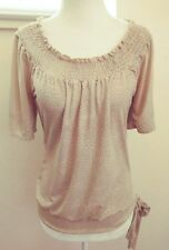 Heart Soul Women's Casual Short Sleeve Blouse/ Top Size Small