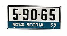 AUTHENTIC CANADA 1953 NOVA SCOTIA MINI MINIATURE CEREAL LICENSE PLATE.