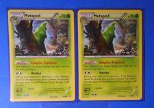 4x Metapod 4/83, 4x Caterpie 3/83 Pokemon TCG card XY Generations NM