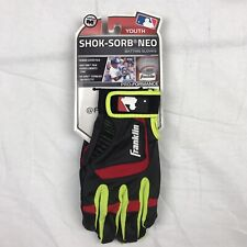 New Franklin Shok-Sorb Neo Baseball Batting Gloves Youth Size M Black/Red/Green