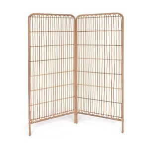 Woven Room Screen, Rattan look, Foldable, room divider .