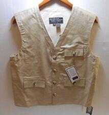 Vintage New York Sportswear Beige Karachi Cloth Safari Photographer Vest Medium
