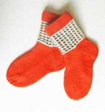 Russian Women's Wool Socks Hand Knitted  Handmade #36