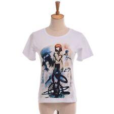 Anime Steins Gate Short Sleeve T shirt Makise Kurisu White Tee Unisex 2 Patterns