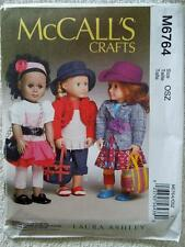 """McCALL'S PATTERN M6764 FOR AMERICAN GIRL OR ANY 18""""DOLL"""