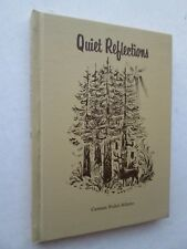 QUIET REFLECTIONS Selected Poems by Carmen Boitel Adams 1974 HC SIGNED