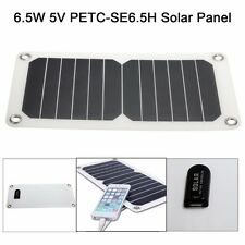 Portable 6.5W 5V Semi-Flexible Mono Solar Panel USB Charger For Camping Phones