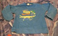 Lovely boys 12-18 month T'shirt with long sleeves in blue with crocodile