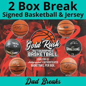 SACRAMENTO KINGS autographed Gold Rush basketball + signed jersey: 2 BOX BREAK