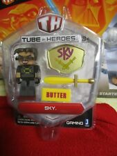 """Tube Heroes Sky Butter 3"""" Character with Accessories Figure Toy Game Jazwares TH"""