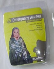 NEW 2 INSULATING SILVER EMERGENCY FOIL BLANKETS RUNNING HIKING FIRST AID SUMMIT