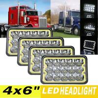 4pcs For 60/80 Series 4x6'' Square LED Headlights w/ DRL H4656/H4651/4651/4652