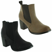 Unbranded Cuban Heel Pull On Ankle Boots for Women