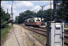 MBTA Boston Trolley #3008 Elliot Station Jun 69 EKTACHROME SLIDE-Railroad