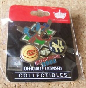 2008 Cincinnati Reds v NY New York Yankees Interleague pin