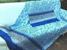2x Bassetti Satin Bettwäsche FARAGLIONI V blau 135x200cm/80x80 Set BETTGARNITUR