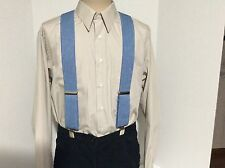 "New, Men's Blue Denim, XL, 2"", Adj.  Suspenders / Braces, Made in the USA"