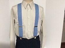 "New, Men's Blue Denim, XXL, 2"", Adj.  Suspenders / Braces, Made in the USA"