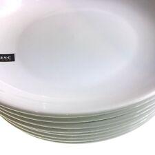 Dinner Plates Set Of 8 White Round Porcelain Massive Clearance