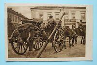 AK Ostpreussenhilfe - Das 4. Rad am Wagen 1914-18 Pferdefuhrwerk Ort Osten 1.WK