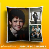Personalised Photo Pillowcase Cushion Pillow Case Cover Custom Gift up to 3 pics