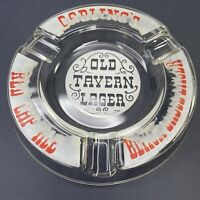 Vintage 1960s Carling Red Cap Ale Black Label Lager Beer Brewery Glass Ashtray