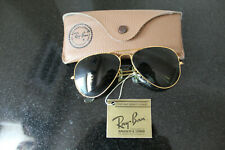 Vintage B&L Ray Ban Bausch & Lomb Gold Rim Green Glasses w/Case