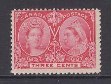 Canada Sc 53 MLH. 1897 3c bright rose Queen Victoria Jubilee F+