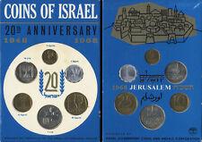 ISRAELE 1968 JERUSALEM SPECIMEN SET _ SERIE DIVISIONALE UFFICIALE 1968 6 MONETE