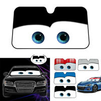 Cartoon Car Front Window Sunshade Windshield Cover Car Protective Black+White
