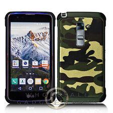 LG K8/K7 Advanced Armor Case - Green Camo  Cover Shell Protector Guard Shield