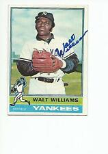 WALT WILLIAMS Autographed Signed 1976 Topps card New York Yankees COA