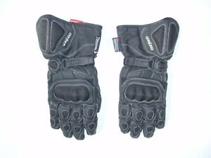 Cortech men's XL black leather Scarab Winter motorcylce gloves