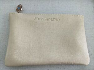 Ipsy July 2021 Makeup Glam Bag ~ New Bag only Gold with Blue
