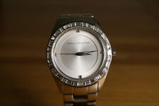 French Connection large ladies jewelled bezel stainless steel bracelet lot218