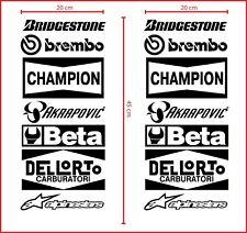 adesivi stickers per moto sponsor tecnici carena cross auto tuning motocross