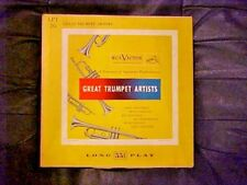 "RARE Great Trumpet Artists RCA Victor LPT26 10"" Album 33 1/3 RPM Jazz Armstrong"