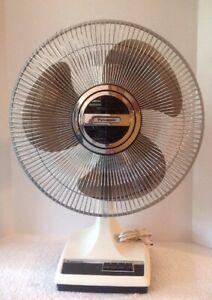 "Panasonic 5 Way Oscillation Fan 16"" Grey Smokey Blades Plastic Blades"