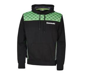 Kawasaki Sports Hoody Pullover Kapuzenshirt SPORTS NEU von BikerWorld