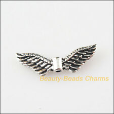 8 New Charms Animal Wings Tibetan Silver Spacer Beads 8x24mm
