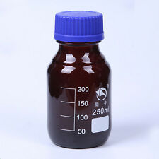 250ml Glass Laboratory Screwcapped Reagent Bottle Medical Sample Container