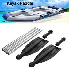 2Pcs Afloat Oars Telescopic Handle Detachable Kayak Paddle Boat Rafting Canoe