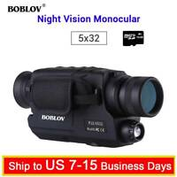 BOBLOV Digital Day & Night Vision Monocular 5x32 Optics Scope Monoculars + 16GB