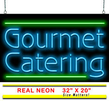 "Gourmet Catering Neon Sign | Jantec | 32"" x 20"" 
