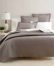 Charter Club Damask Quilted Cotton Twin Coverlet Stone Grey Bedding $135 i2190