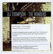 (FY965) RJ Thompson, The Numbers - 2014 DJ CD